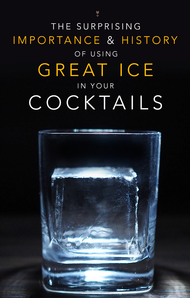 How to make good cocktail rocks ice cubes