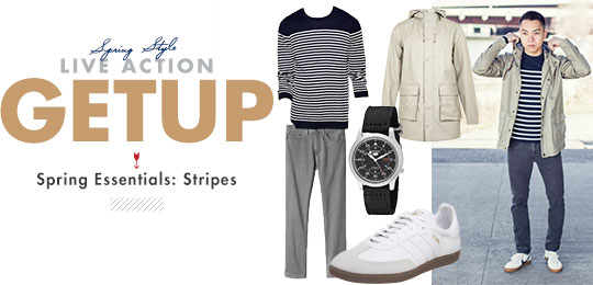 Live-Action Getup: Spring Essentials – Stripes