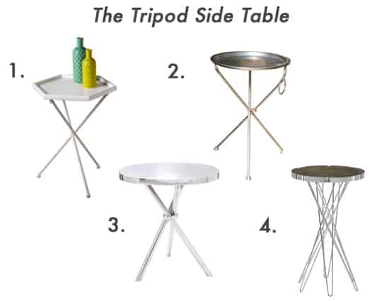 Examples of the tripod side table