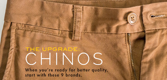 Upgrade - chinos - closeup of pants