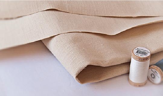 linen cloth and thread