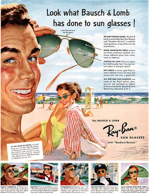 old Ray Ban advertisement