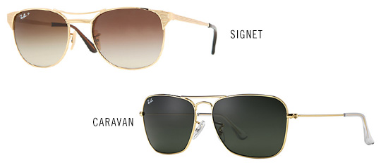 Ray-ban signet and caravan