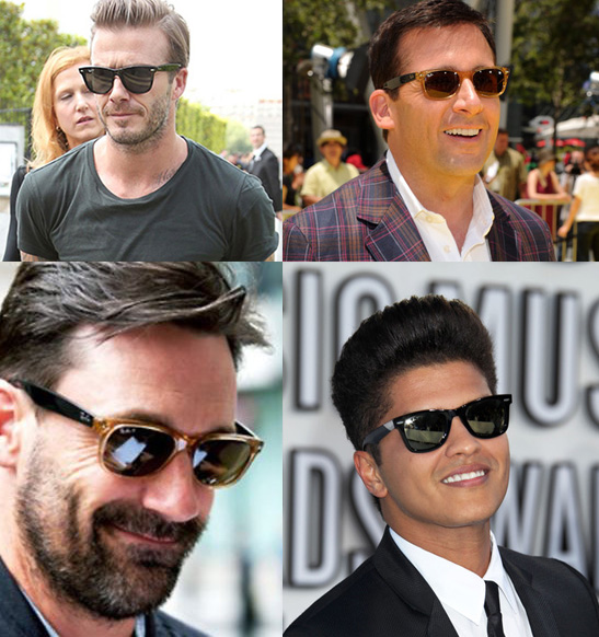 Celebrities wearing wayfarer