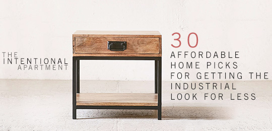 30 affordable home picks for getting the industrial look - side table