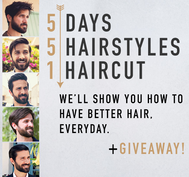 5 Easy Men's Hairstyles with Just 1 Haircut