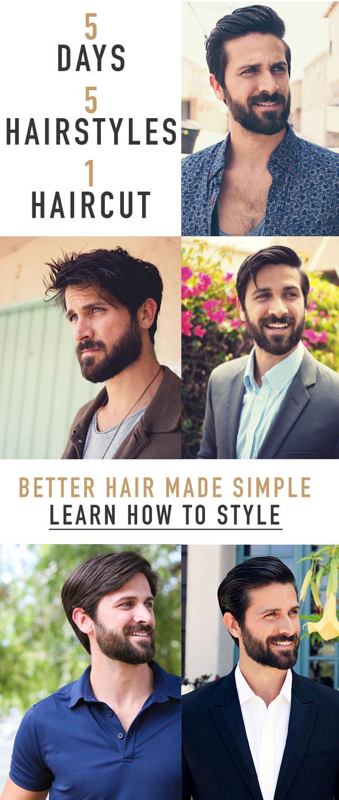 5 Days, 5 Hairstyles, 1 Haircut