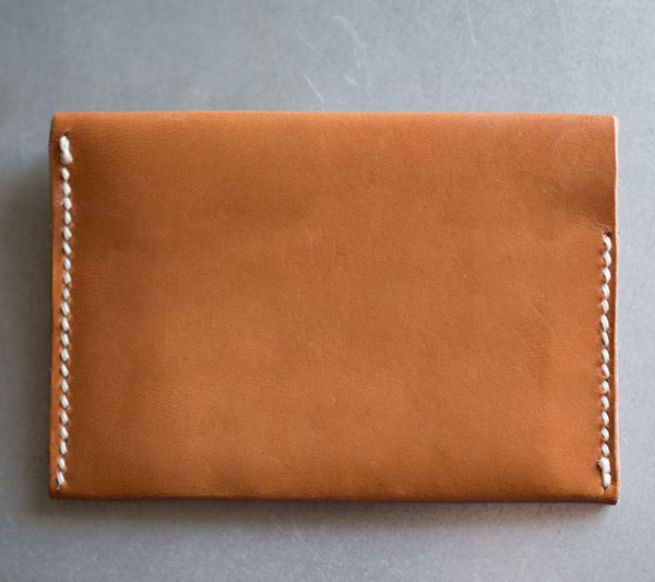 Minimalist leather wallet diy card case