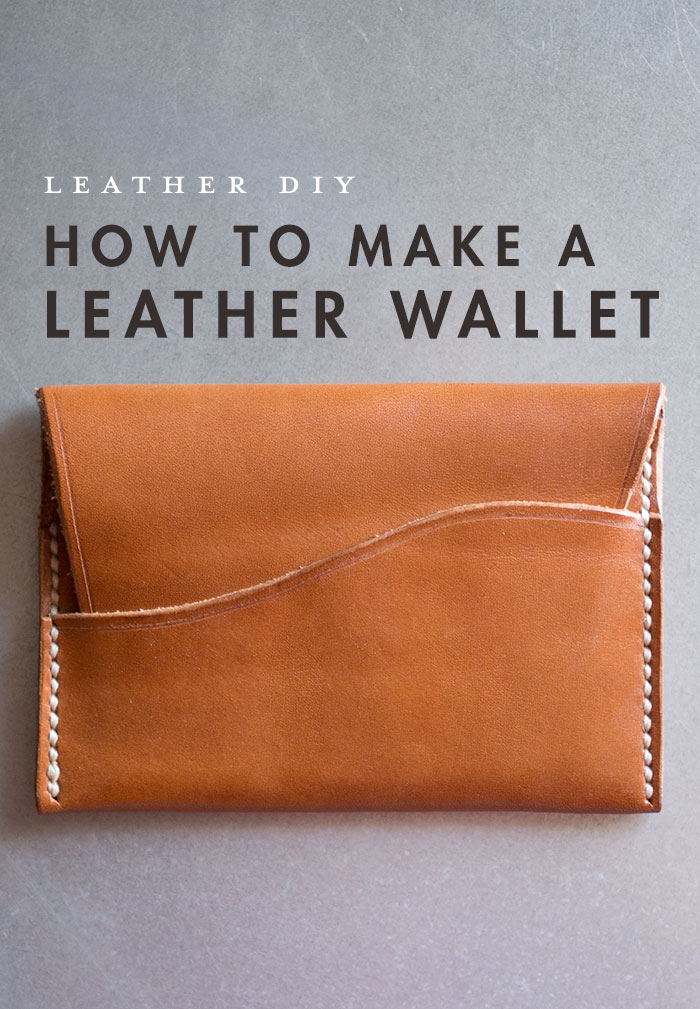 How to make a leather wallet   DIY