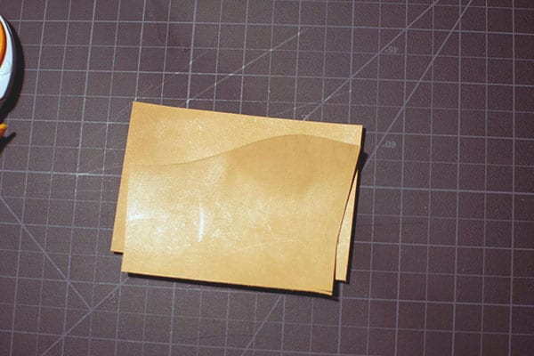 Make a leather wallet - 06