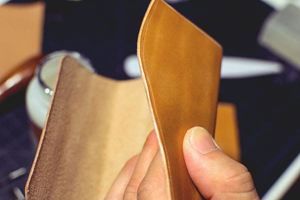 Make a leather wallet - 23