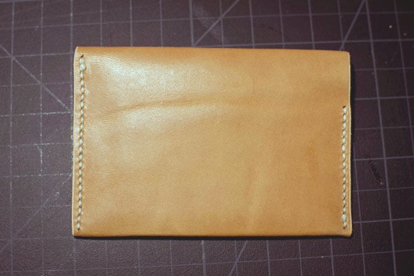 Make a leather wallet - 36
