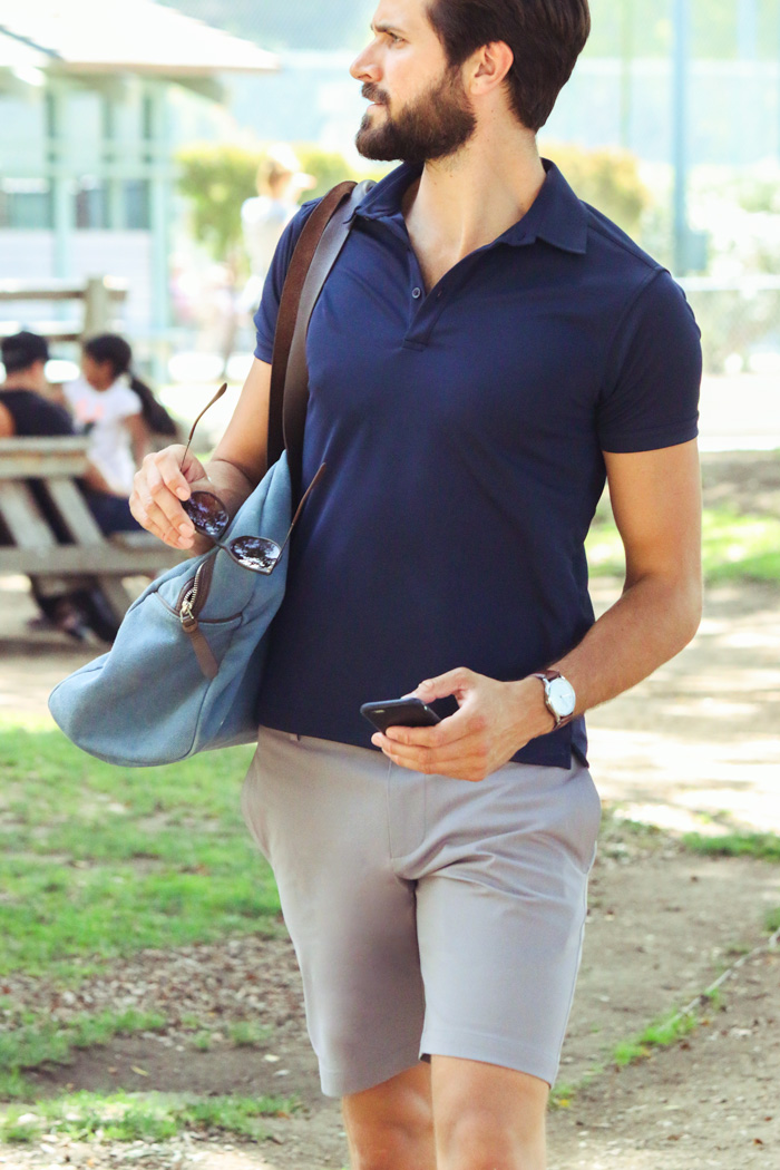 performance polo and shorts by Ministry of Supply - men's summer style inspiration