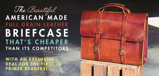 The Beautiful American-Made, Full Grain Leather Briefcase That's Cheaper Than Its Competitors