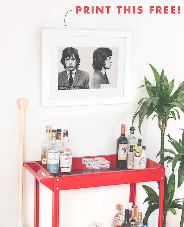 Free Printable: Mick Jagger Mugshot