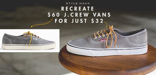 Recreate $60 J.Crew Vans for just $32