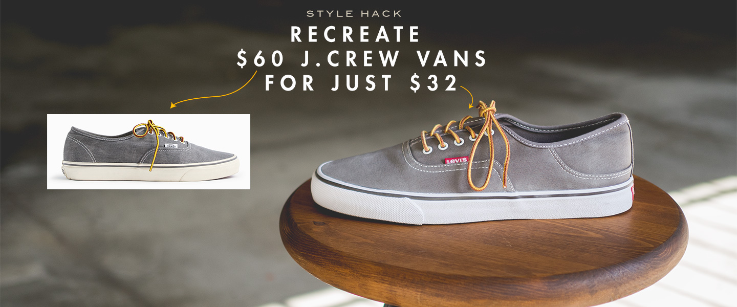 Recreate $60 J.Crew Vans for just $32