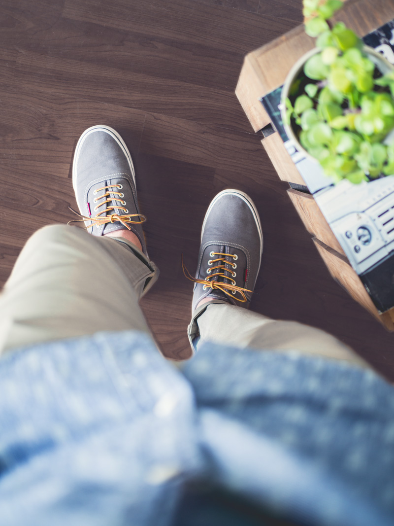 Amazon Outfit Gray Canvas Sneakers
