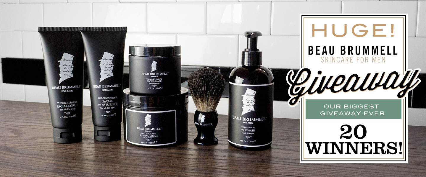 20 Winners! Enter to Win: Beau Brummell for Men – Small-batch Shaving and Skin Care Products Made in New York