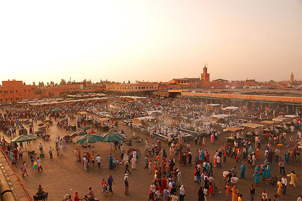 Marrakesh market in Morocco