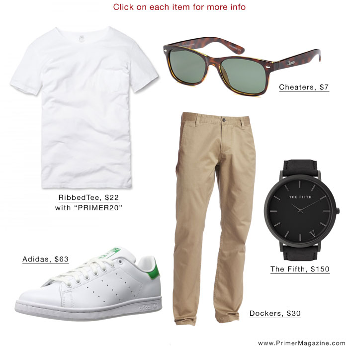 White pocket tee shirt summer style inspiration