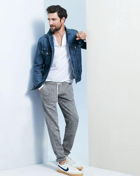 Mens Jean Sweatpants