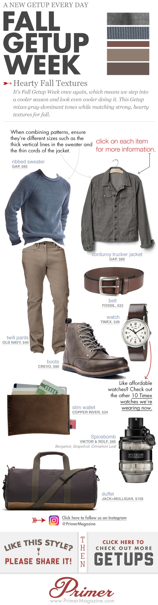 Fall Getup Week Hearty Fall Textures inspiration with blue sweater and brown boots