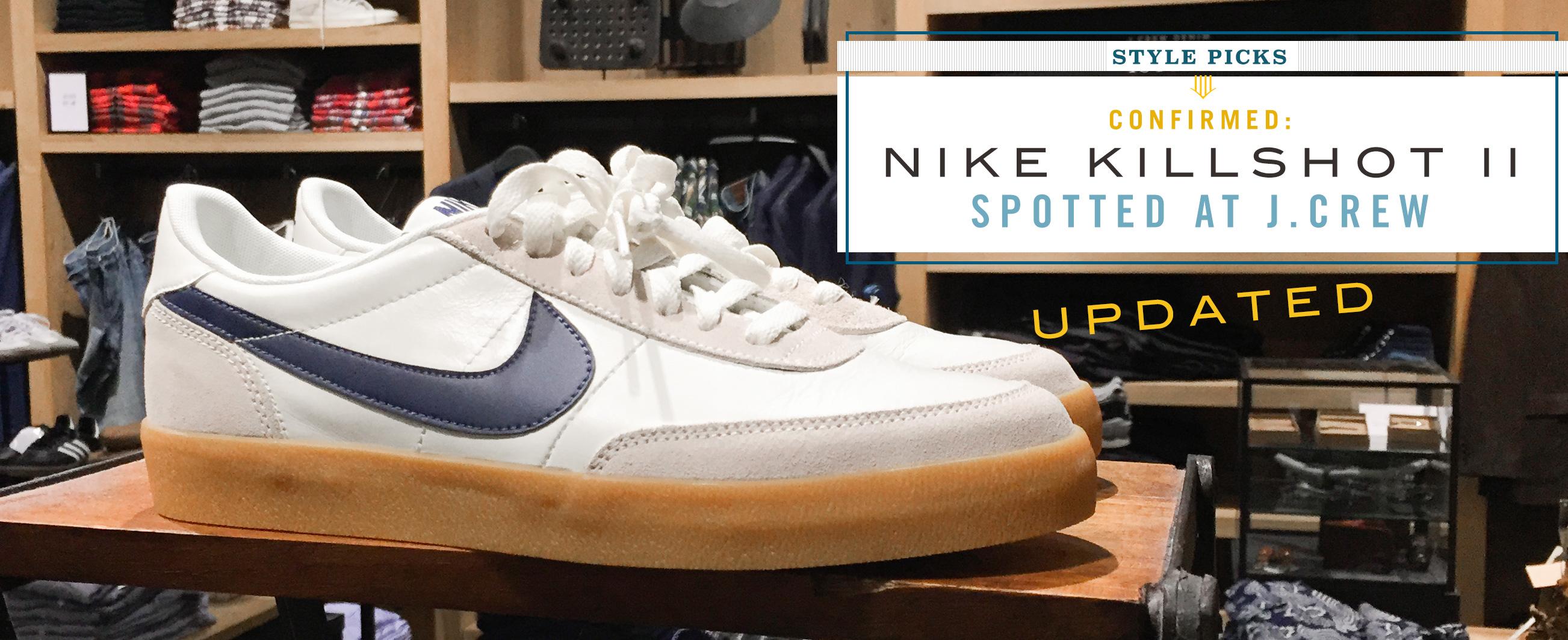 Nike's Killshot 2 Spotted in J.Crew Stores [updated]