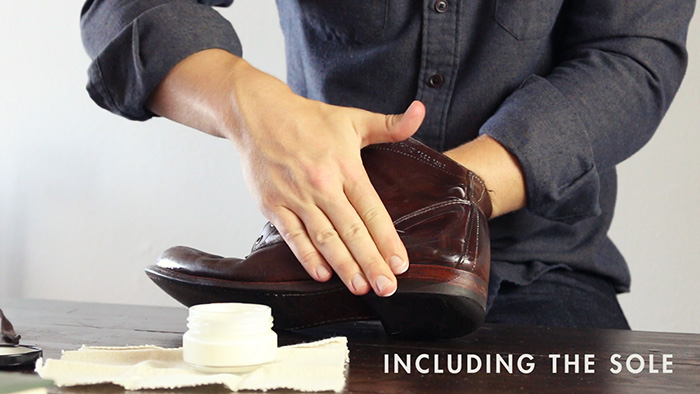 Leather boot sole - shoe cream - recondition