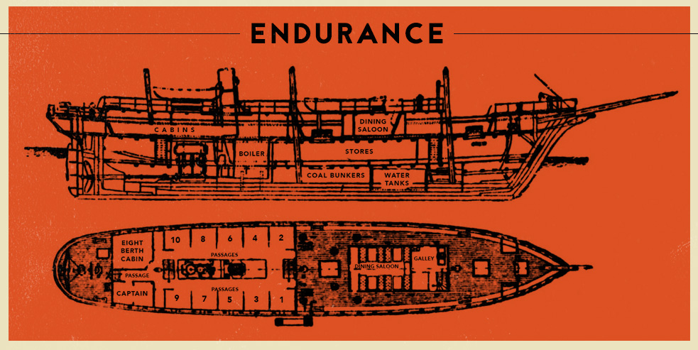 Shackleton Endurance boat diagram