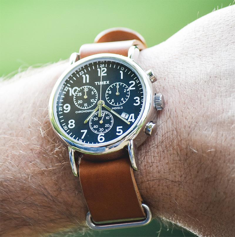 Timex Weekender Chrono Leather