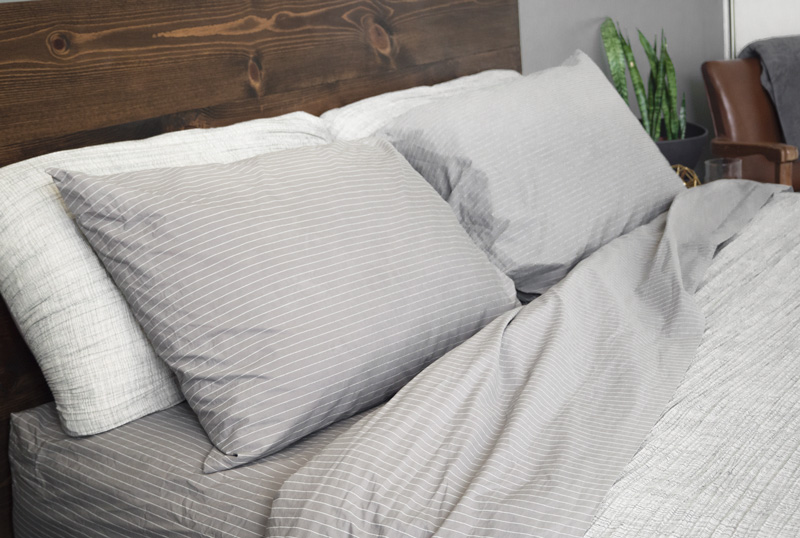 Brooklinen reverse stripe sheets