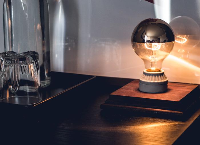 DIY side table lamp