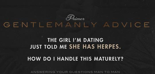 Dating någon med herpes risker