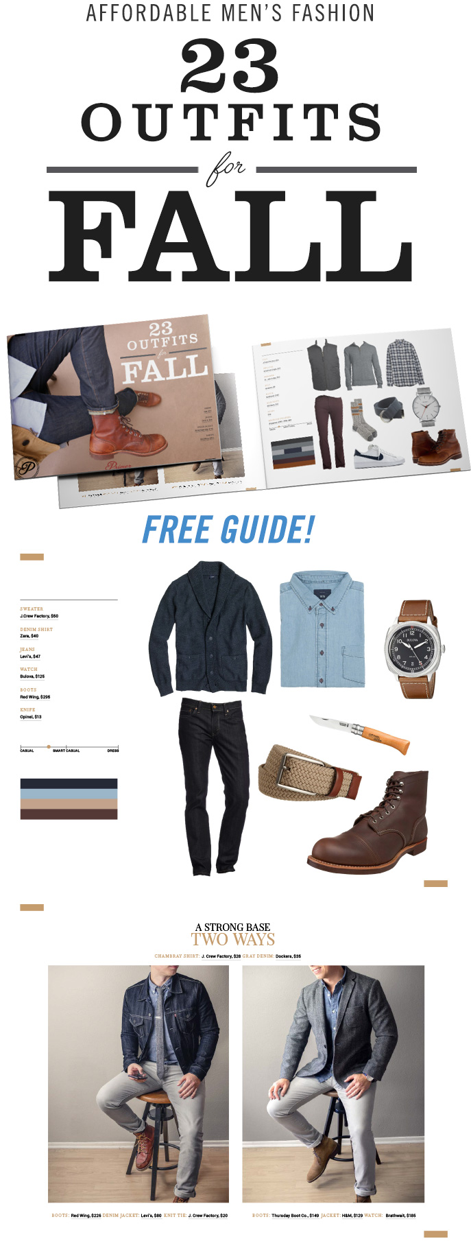 Men's Fall Fashion - 23 Outfits for Men - Men's Style Inpsiration