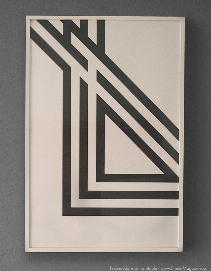 Free modern art download - triangles