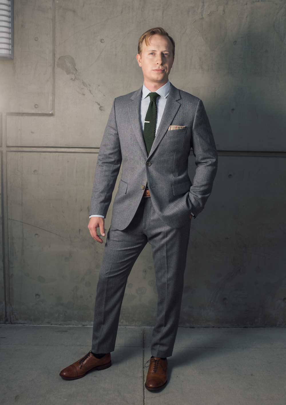 What to wear to a wedding - Indochino premium herringbone suit