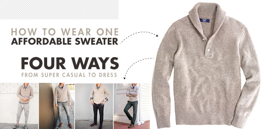 Live Action Getup: How to Wear 1 Affordable Sweater 4 Ways