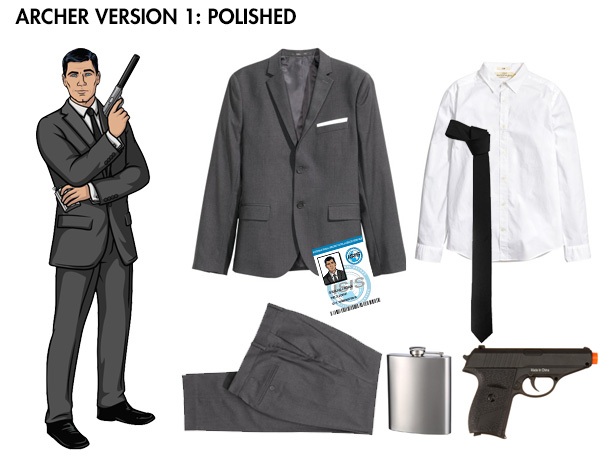 Archer Sterling costume - last minute costume ideas