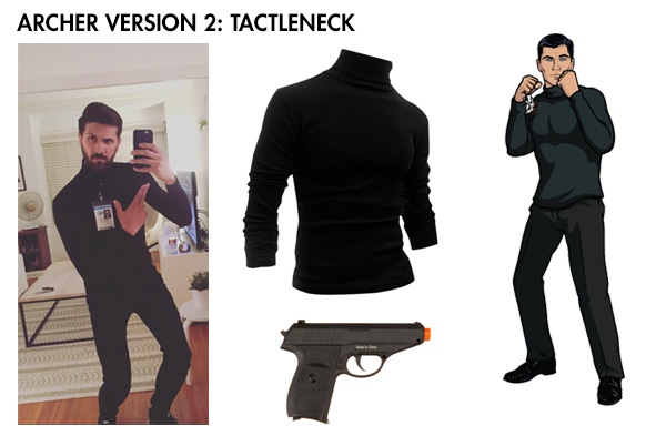 Archer costume tactleneck
