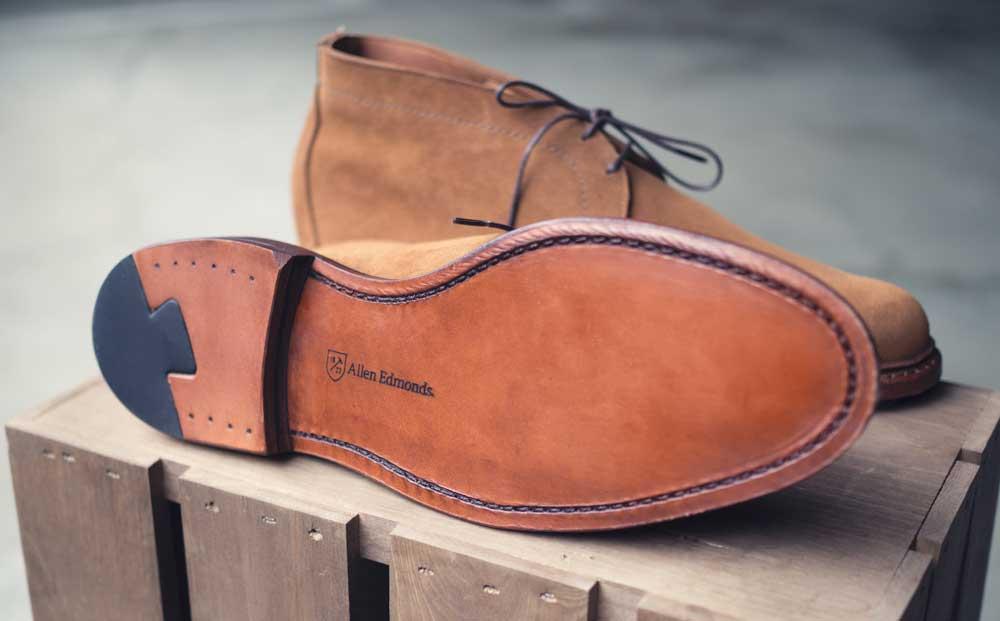 Allen Edmonds chukka leather sole
