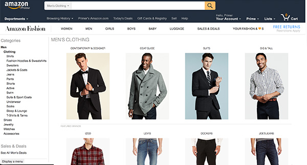 amazon prime men fashion