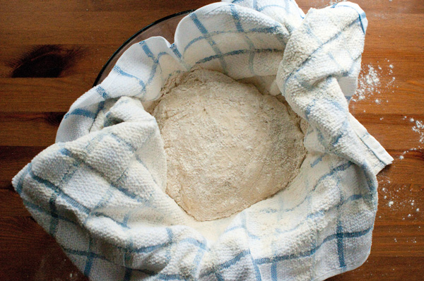 homemade bread forming