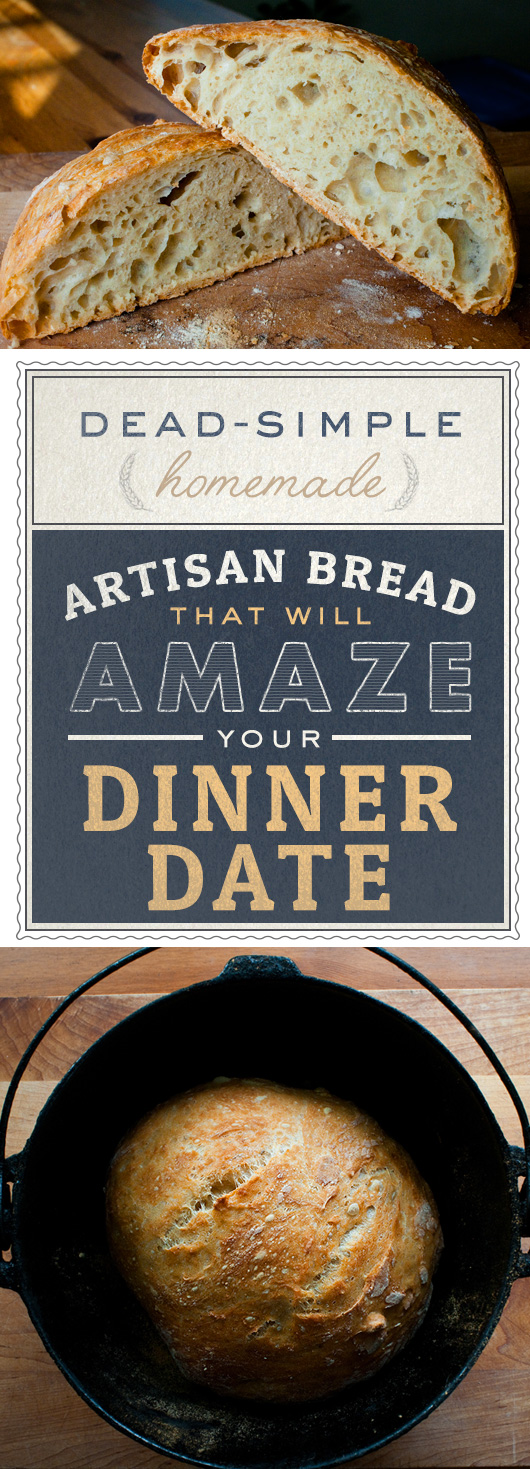 Dead-Simple Homemade Bread That Will Amaze Your Dinner Date