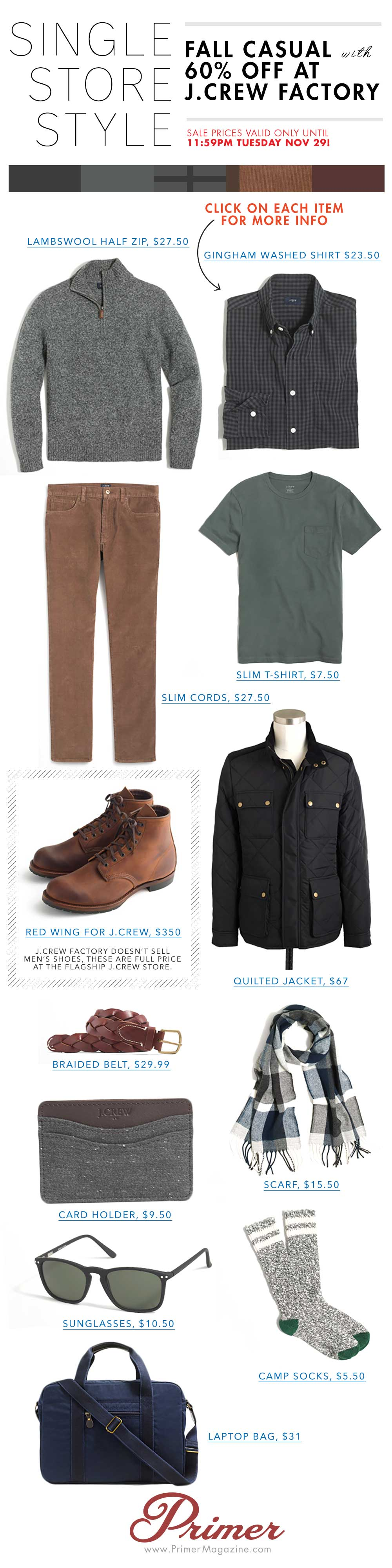Single Store Style - Outfit made from Jcrew Factory