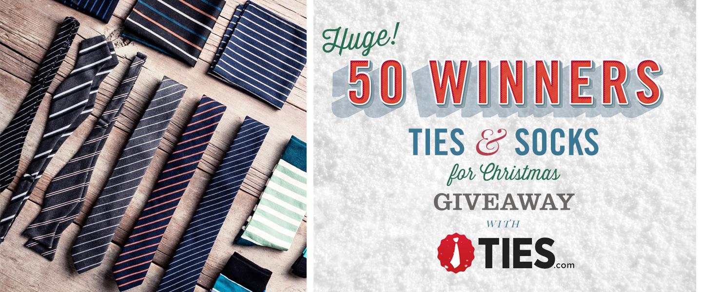 50 Winners! Ties & Socks for Christmas Giveaway with Ties.com!