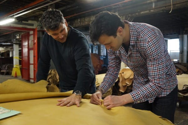 Thursday Boot Co founders Connor and Nolan at Horween Leather Co