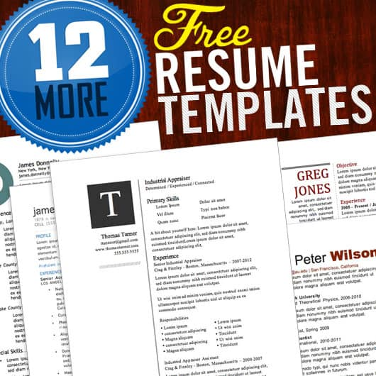 12 free resume template logo