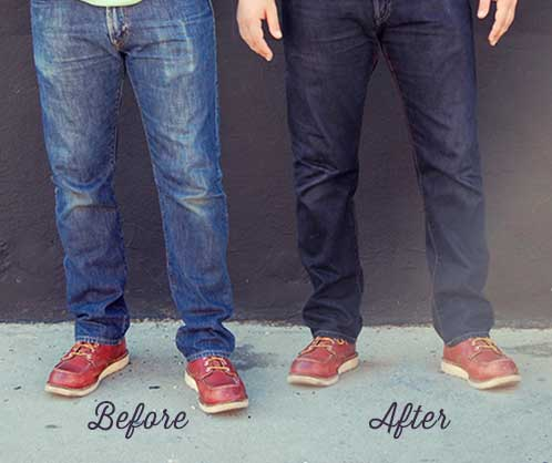Dye jeans to make them darker