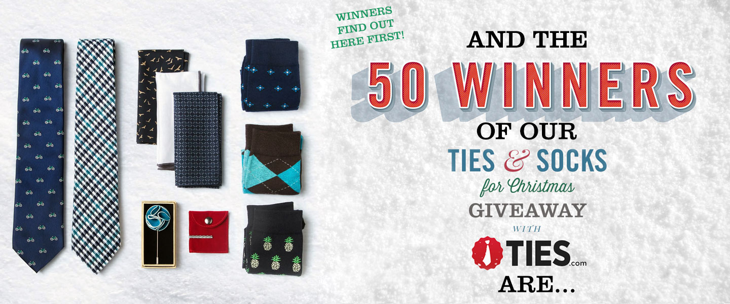 Announcing the Winners of Our Ties & Socks Giveaway with Ties.com + 70% Off Picks!